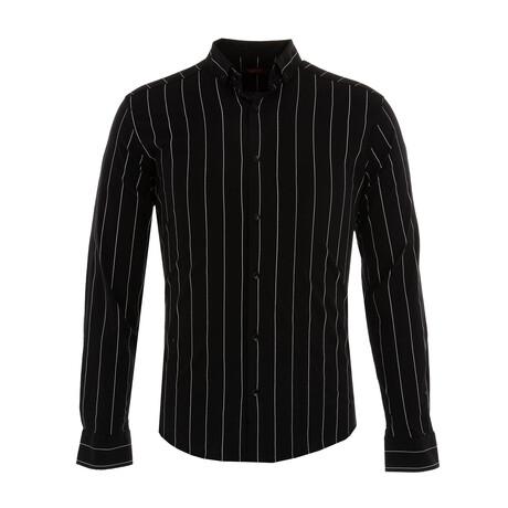 Lutsenko Long Sleeve Button Down Shirt // Black (XS)