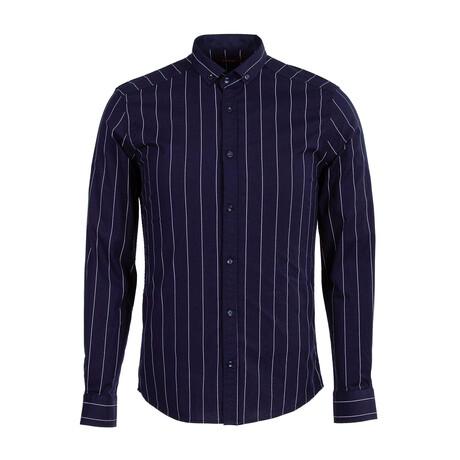 Lutsenko Long Sleeve Button Down Shirt // Dark Blue (XS)