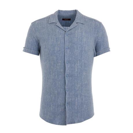 Kelderman Resort Shirt // Blue (XS)