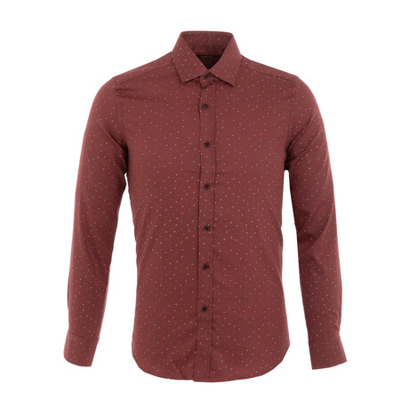 Izaguirre Long Sleeve Button Up Shirt // Claret Red (XS)