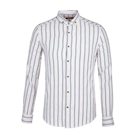 Geschke Long Sleeve Button Down Shirt // Dark Blue (XS)
