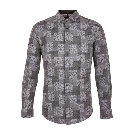 Wellens Long Sleeve Button Up Shirt // Black (XS)