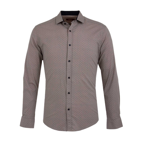 Gesink Long Sleeve Button Up Shirt // Beige (XS)