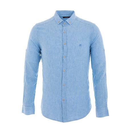 Paret Long Sleeve Button Down Shirt // Light Blue (XS)