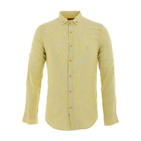Paret Long Sleeve Button Down Shirt // Yellow (XS)