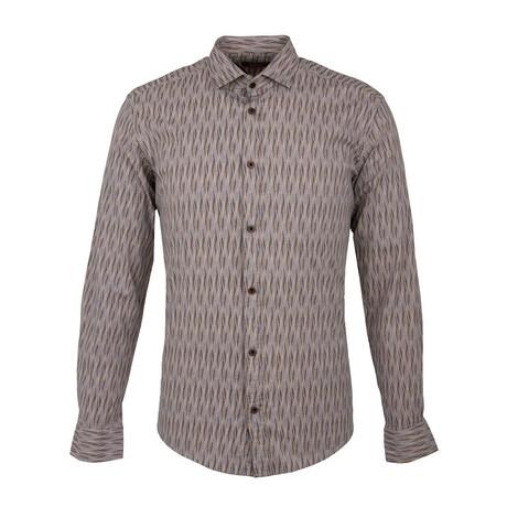 Anacona Long Sleeve Button Up Shirt // Beige (XS)
