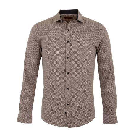 Arcas Long Sleeve Button Up Shirt // Beige (XS)