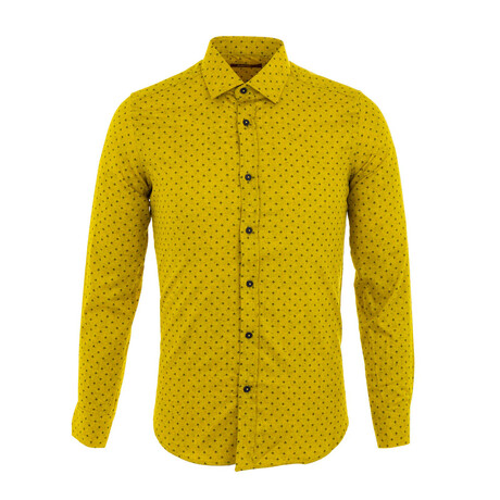 Quintana Long Sleeve Button Up Shirt // Yellow (XS)