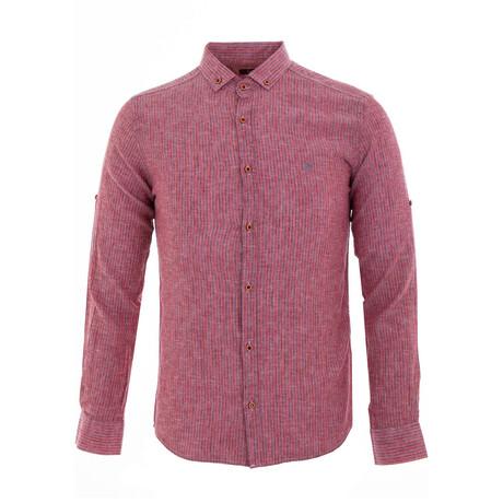 Paret Long Sleeve Button Down Shirt // Red (XS)