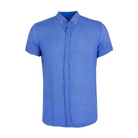 Vingegaard Button Down Shirt // Blue (XS)
