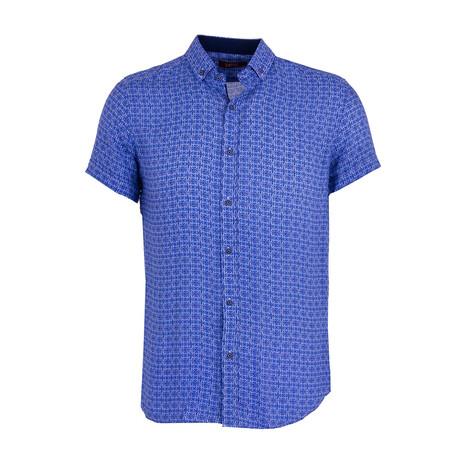 Kuss Button Down Shirt // Sax (XS)