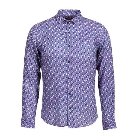 Barta Long Sleeve Button Up Shirt // Dark Blue (XS)