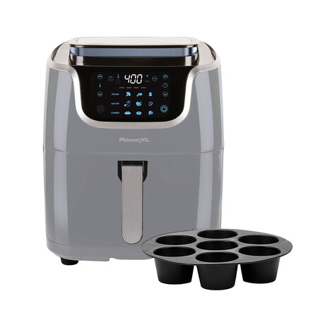 PowerXL 10-in-1 7 Qt. Air Fryer Steamer + Muffin Pan // Slate