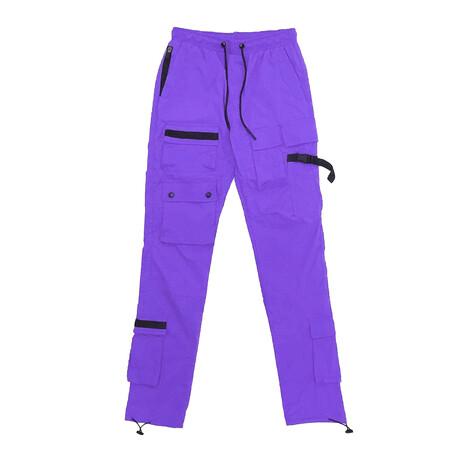 Tactical Nylon Jogger // Purple (XS)