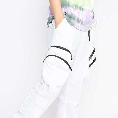 Double Pocket Jogger // White (XS)