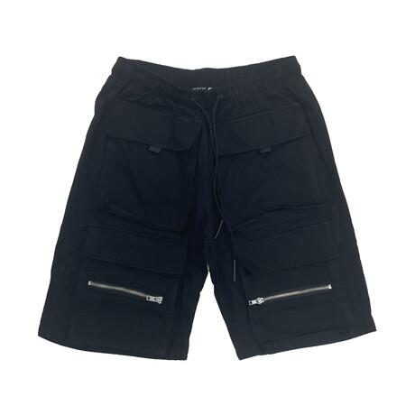 Cargo Twill Short // Black (XS)