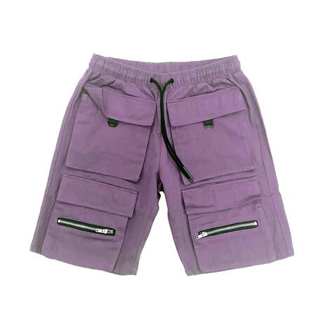 Cargo Twill Short // Purple (XS)