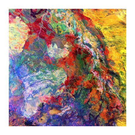 """Melted Colors (24""""H x 24""""W x 0.2""""D)"""