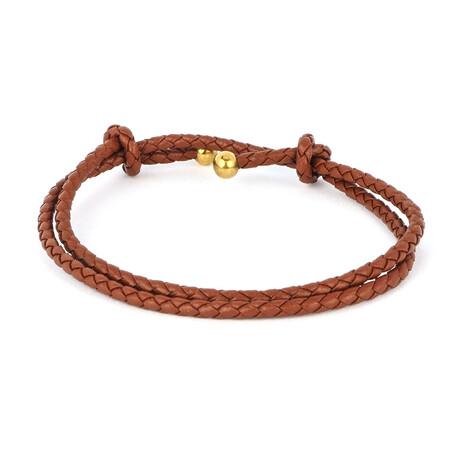Jean Claude Jewelry // Double Wrap Bracelet // Light Brown