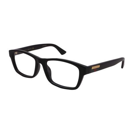 Gucci // Men's GG0771OA-001 Rectangular Optical Frames // Black + Black