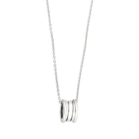 "Bulgari // 18k White Gold B.Zero1 Necklace // 16"" // Pre-Owned"