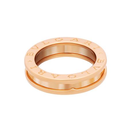 Bulgari // 18k Rose Gold B.Zero1 Single Band Ring // Ring Size: 5.25 // Pre-Owned