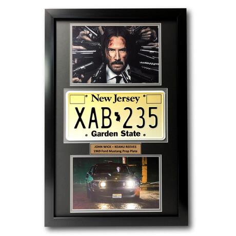 John Wick // Replica License Plate Display