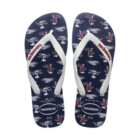 Top Nautical Sandal // Navy + White (US: 8)