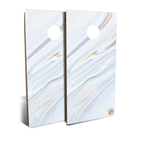 Blue Marble Cornhole Board Set