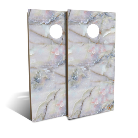 Multicolor Marble Cornhole Board Set