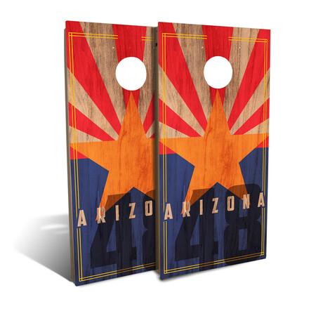 Arizona State Flag Cornhole Board Set (Classic)