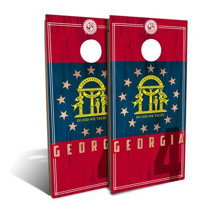 Georgia State Flag Cornhole Board Set (Classic)