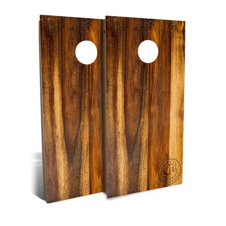 Treated Oak // Cornhole Board Set