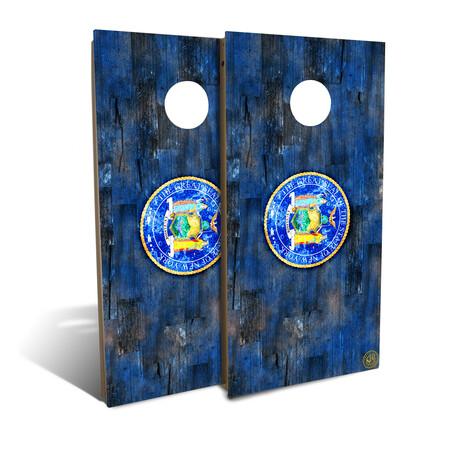 New York State Flag Cornhole Board Set (Classic)