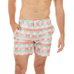 Maldives Swim Trunks // Pink Palms (S)
