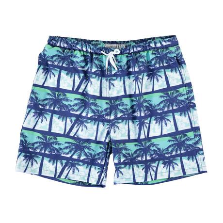 Bali Swim Trunks // Green Palms (S)