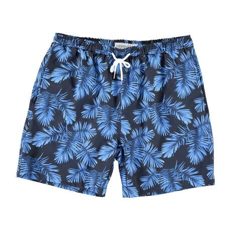 Hawaii Swim Trunks // Blue Leaves (S)
