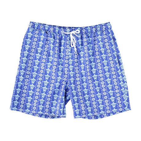 Tahiti Swim Trunks // Blue Turtles (S)