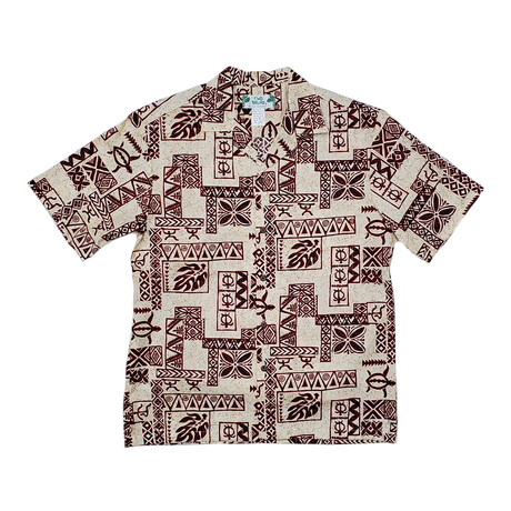 Tapa Shirt // Red + White (Small)