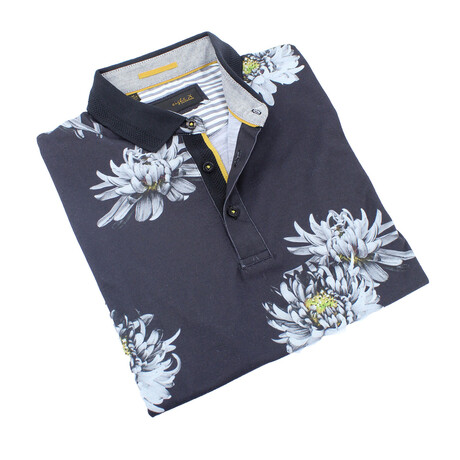 Floral Polo // Yellow (S)