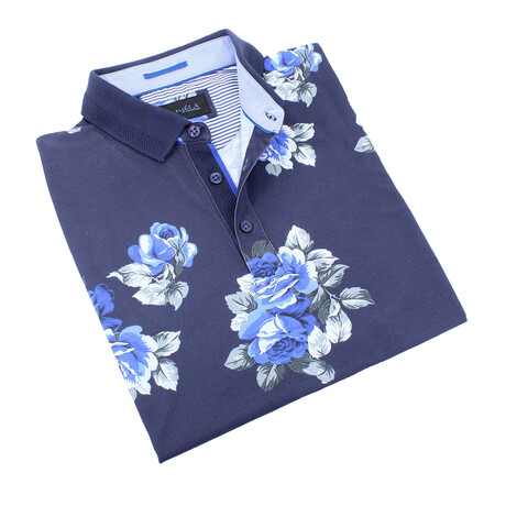 Floral Polo // Blue (S)