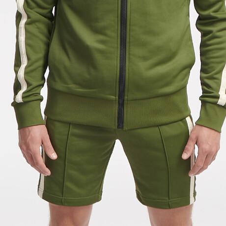 Hipo Track Shorts // Army Green (S)