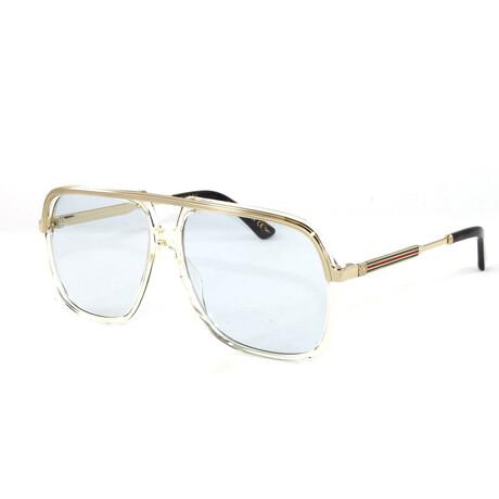 Men's GG0200S Sunglasses // Yellow + Gold