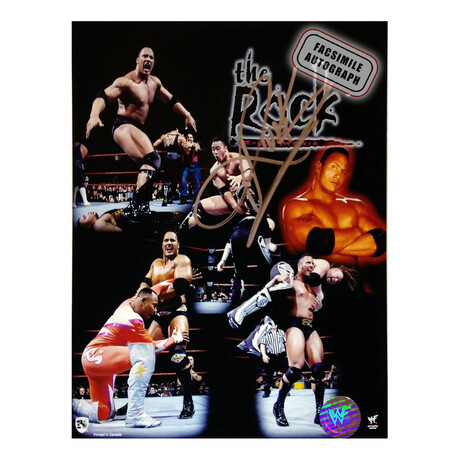 "Dwayne ""The Rock"" Johnson // Facsimile Signature Photo // WWE"