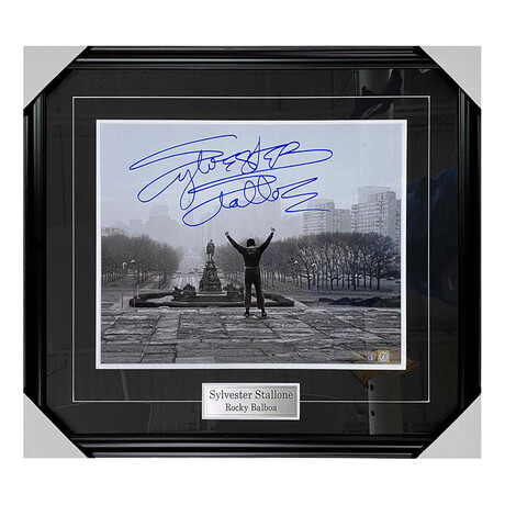 Sylvester Stallone // Autographed Photo Display // Rocky Steps