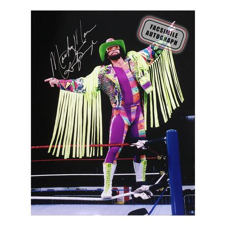 "Randy ""Macho Man"" Savage // Facsimile Signature Photo // WWE"