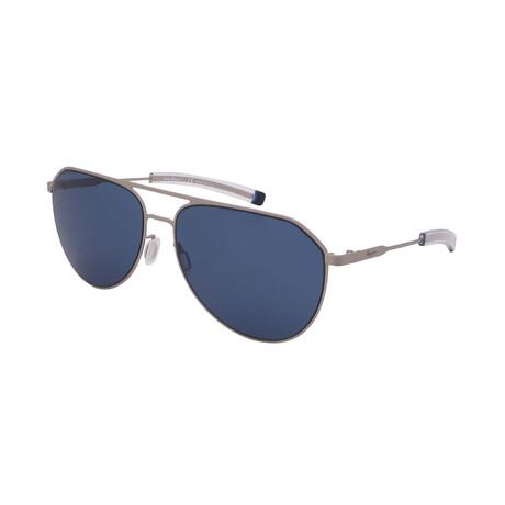 Unisex SF219S-029 Aviator Sunglasses // Matte Silver