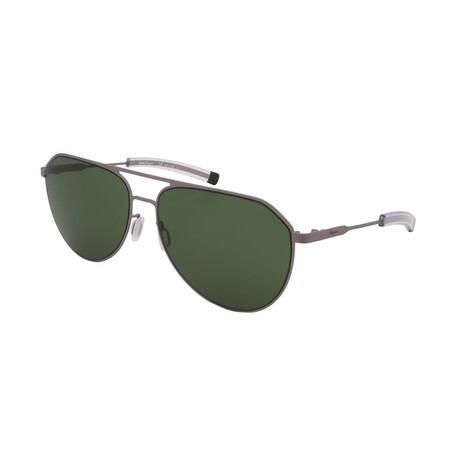 Unisex SF219S-032 Aviator Sunglasses // Matte Light Ruthenium