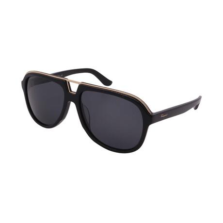 Unisex SF730S-001 Aviator Sunglasses // Black