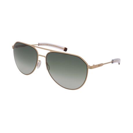 Unisex SF219S-758 Aviator Sunglasses // Matte Gold